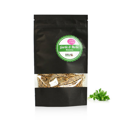 Freezedried Mealworms Garlic&Herbs 70 gram