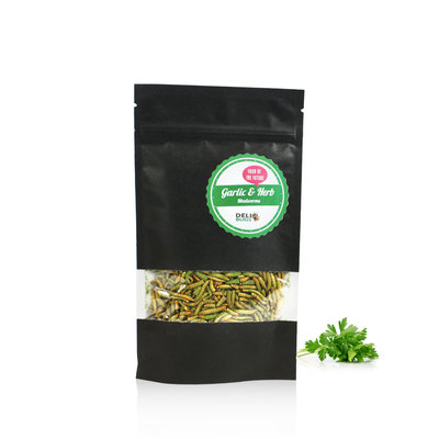 Freezedried Mealworms Garlic&Herbs 40 gram