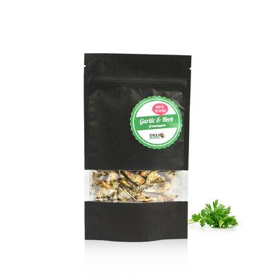 Freezedried Grasshoppers Garlic&Herbs 20 gram