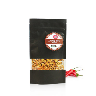 Freezedried Mealworms Smokey BBQ 40 gram