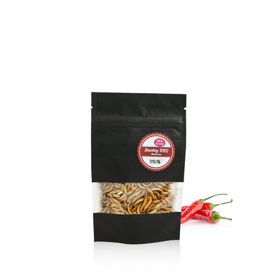 Freezedried Mealworms Smokey BBQ 13 gram