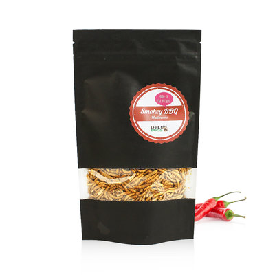 Freezedried Mealworms Smokey BBQ 70 gram